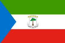 EQUATORIAL GUINEA - HAND WAVING FLAG (MEDIUM)